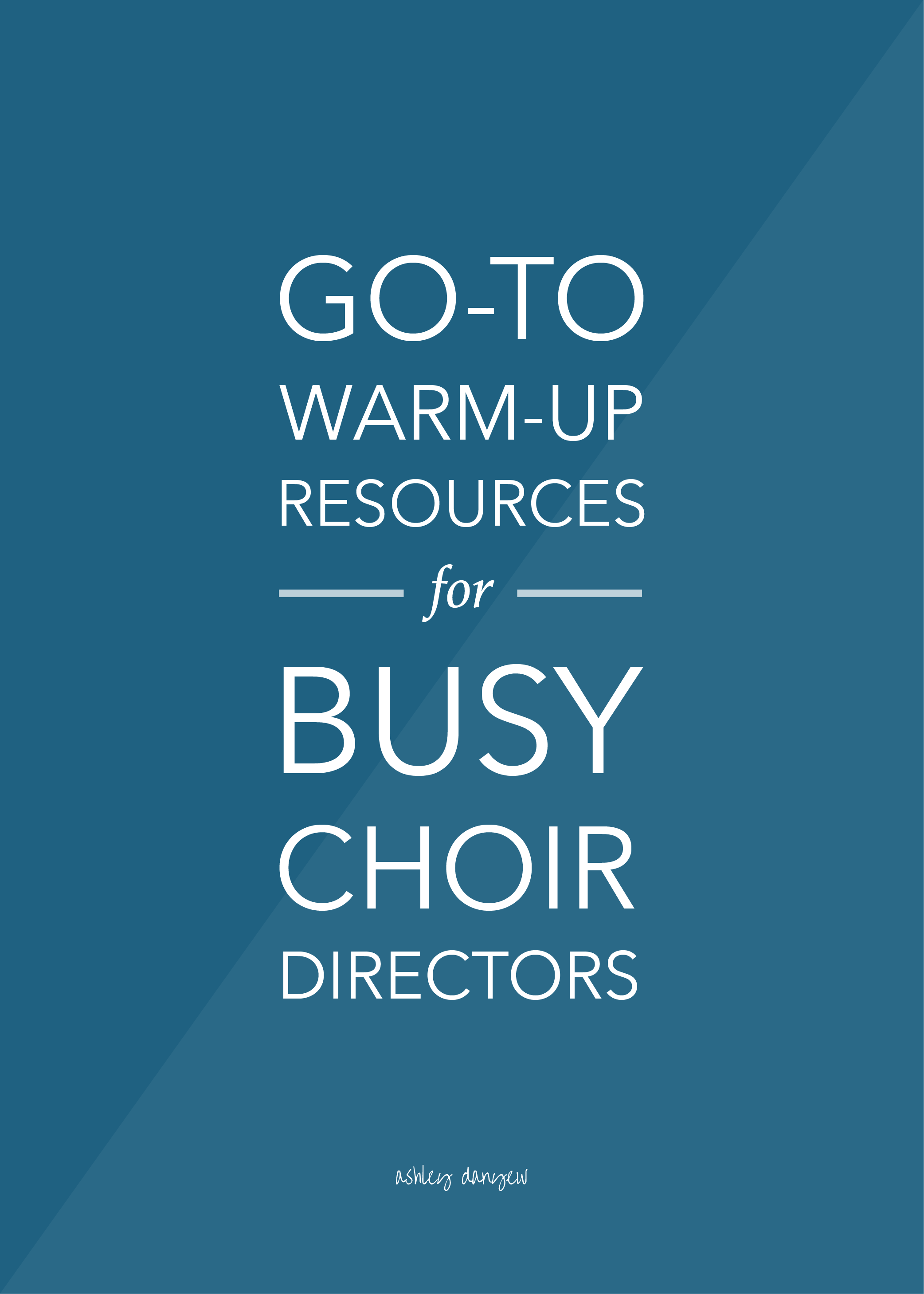Go To Warm Up Resources For Busy Choir Directors