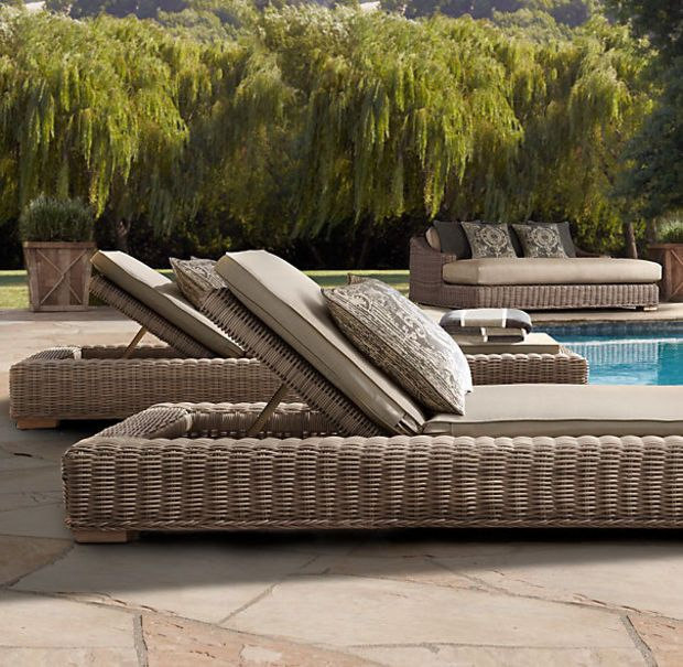 Provence Classic Chaise   Wicker patio furniture, Outdoor ...