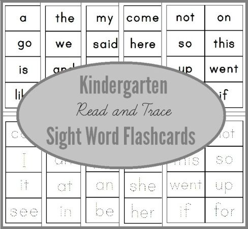 Free read and trace dolch sight word flashcards for Kindergarten - dolch sight word flashcards