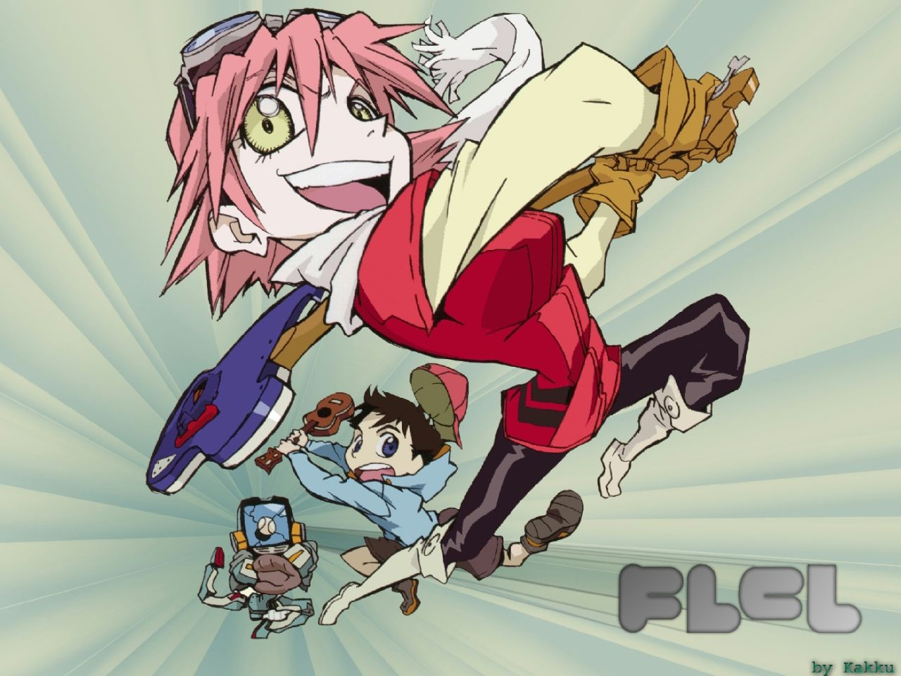 Download FLCL OST No. 3 cover Wallie (1280x960