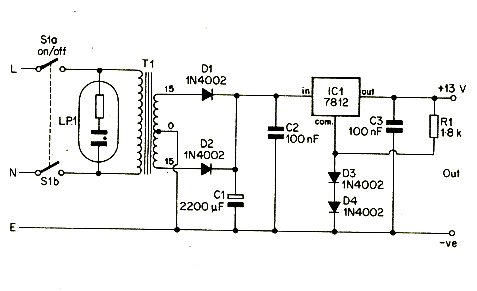 12v portable and mobile power supply circuit diagram
