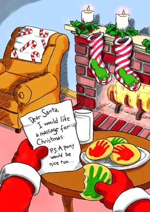 I want a massage for Christmas | Funny Massage Therapy Humor ...