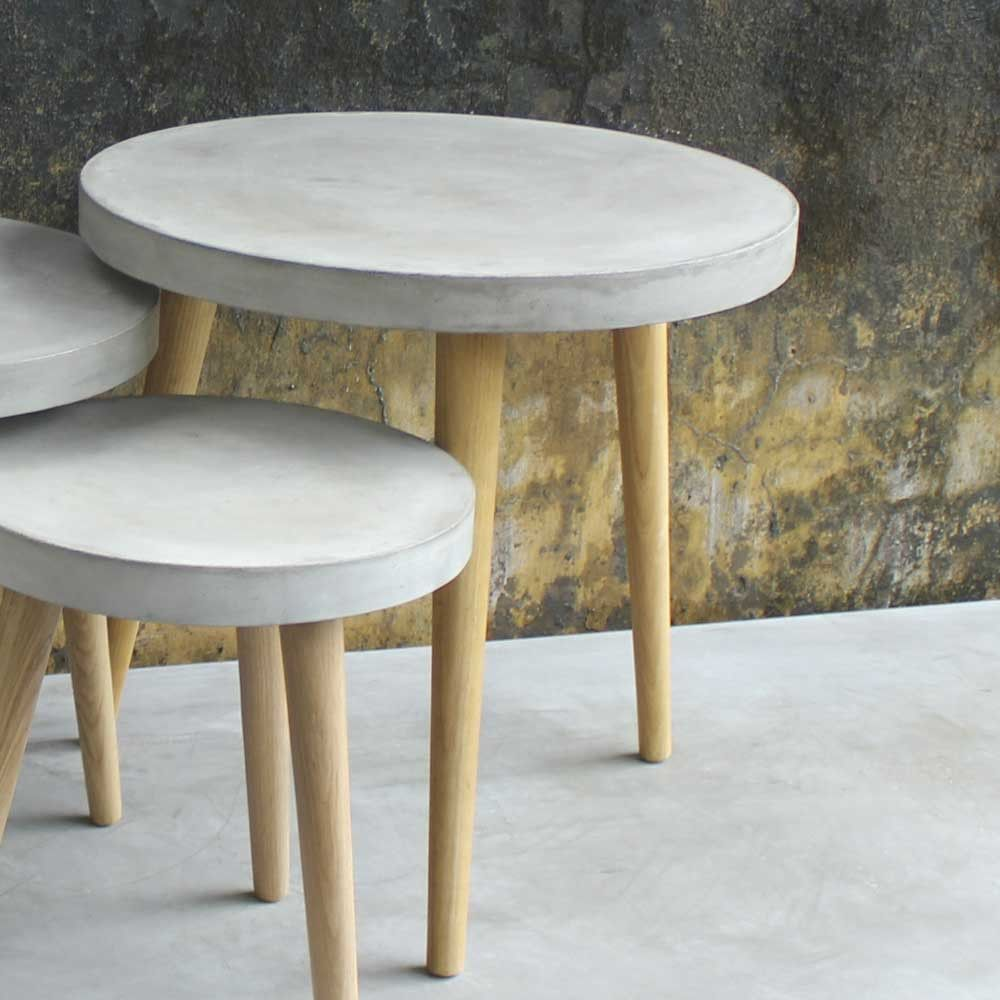 Runder Couchtisch Greyment Aus Beton Couchtisch Couchtisch Rund Tisch