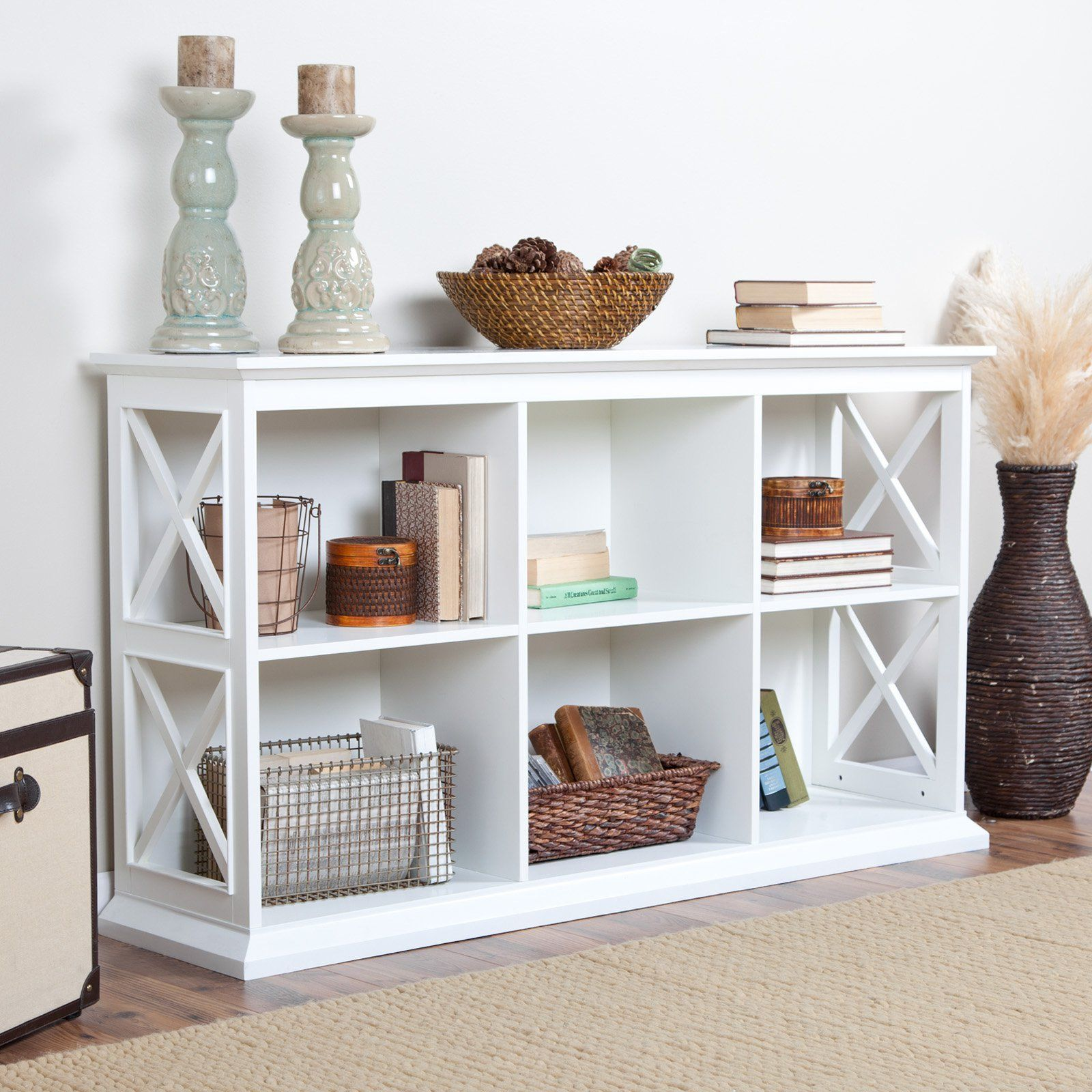 Belham Living Hampton Tv Stand Bookcase White A Hayneedle Exclusive The Offers Clic Style That Works