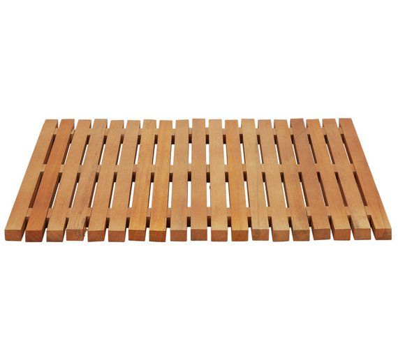 buy habitat papua natural wooden bath mat at argoscouk visit argos - Wooden Bathroom Accessories Uk