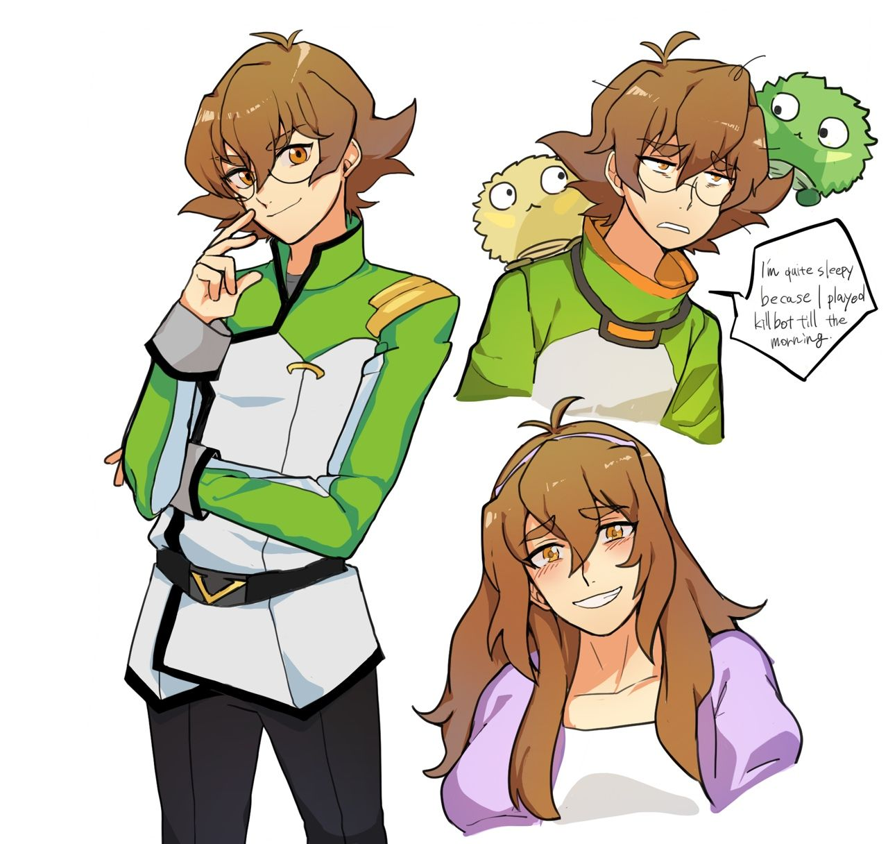 Pidge Katie Holt And Her Moments In Her New Green Galaxy Garrison Uniform From Voltron Legendary Defender Voltron Voltron Legendary Defender Voltron Comics