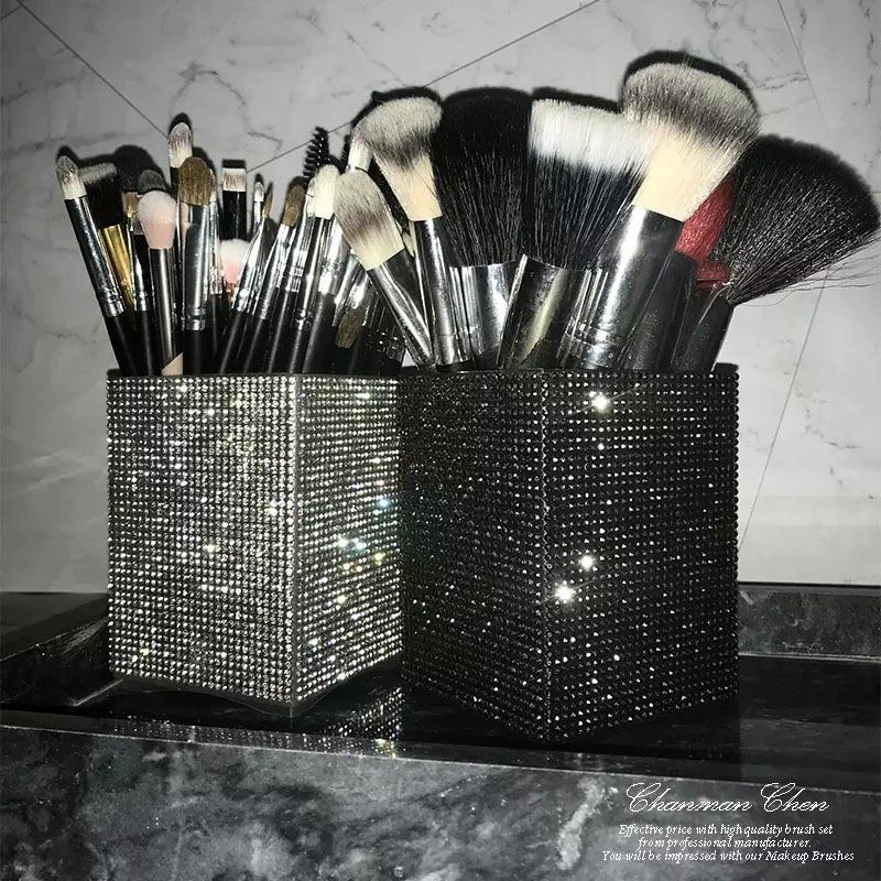 Diamond Makeup Brush Holder in 2020 Rhinestone makeup