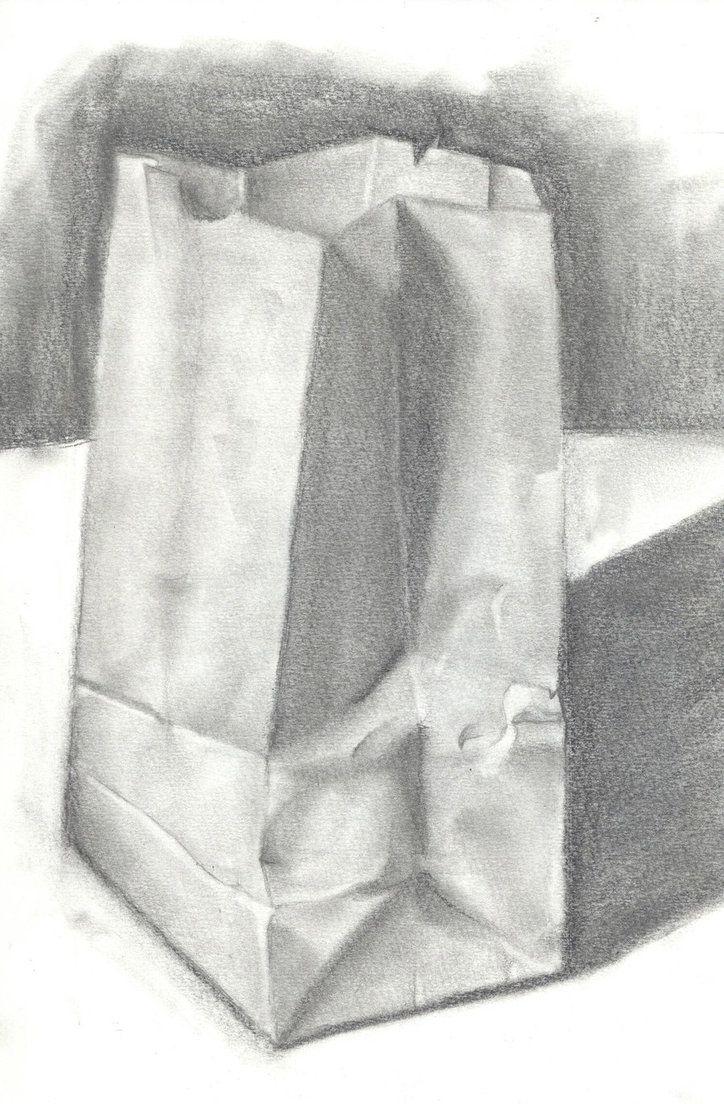 Paper bag sketch - Paper Bag Value Practice By Tirqu