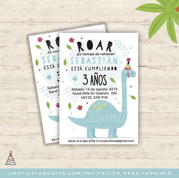 Invitación Para Imprimir Dinosaurios Dinosaur Party 4wm En 2019