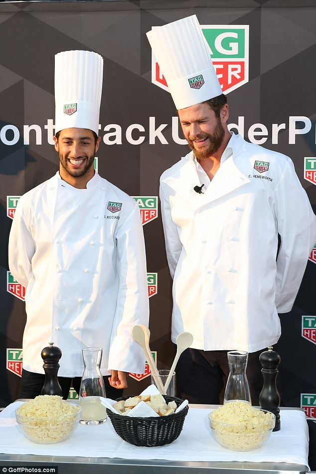 Chris Hemsworth Shows Off His Culinary Skills At Formula 1 Event