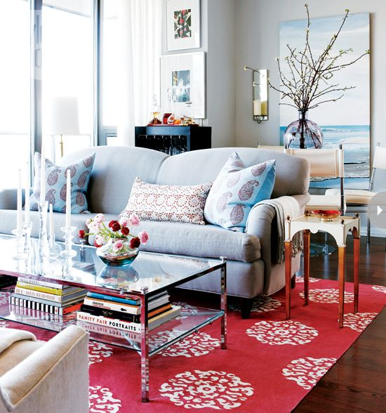 10 living rooms we love Colorful living rooms, Artwork lighting