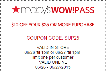 Saving 4 A Sunny Day: New Macy's Wow Pass!