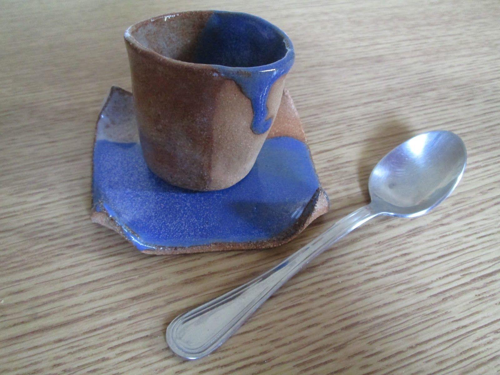 tasse à café, en grès