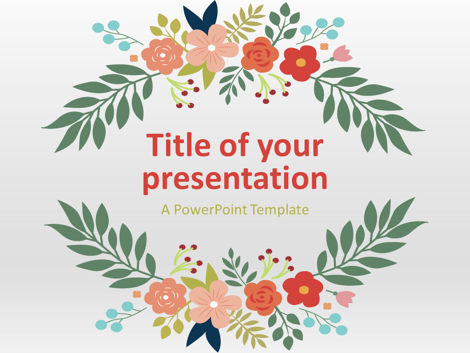 free floral spring template for powerpoint. floral elements on a, Modern powerpoint