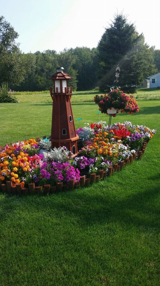 My Lighthouse Island #flowerbeds