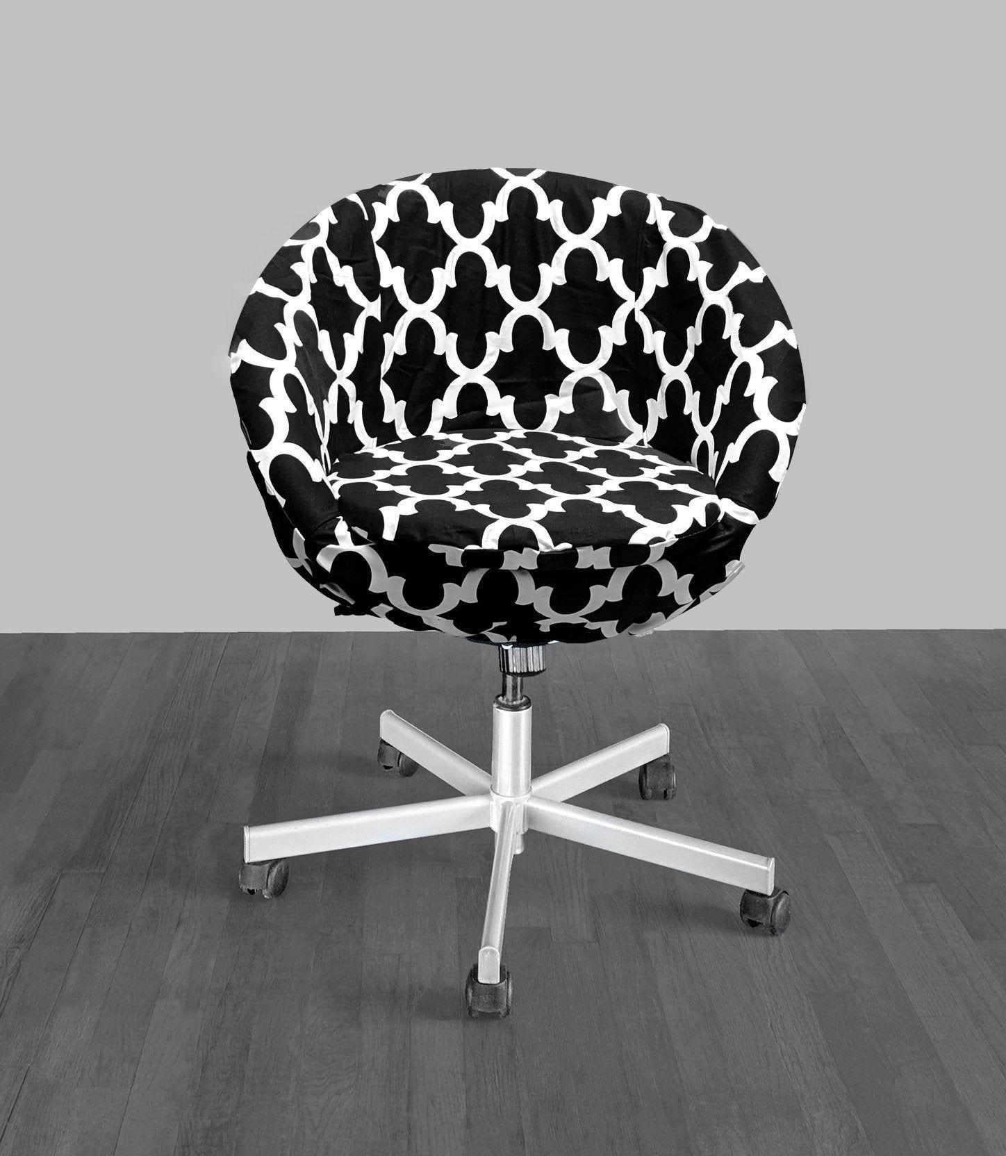 IKEA SKRUVSTA Chair Slip Cover, Black Indian Geometric