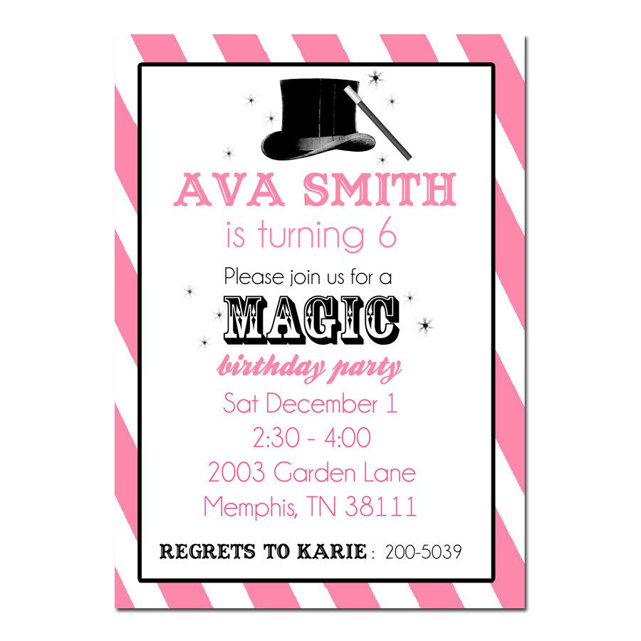 Magic birthday party invitation digital file magician invitation magic birthday party invitation digital file magician invitation printable ecard 1400 via etsy filmwisefo