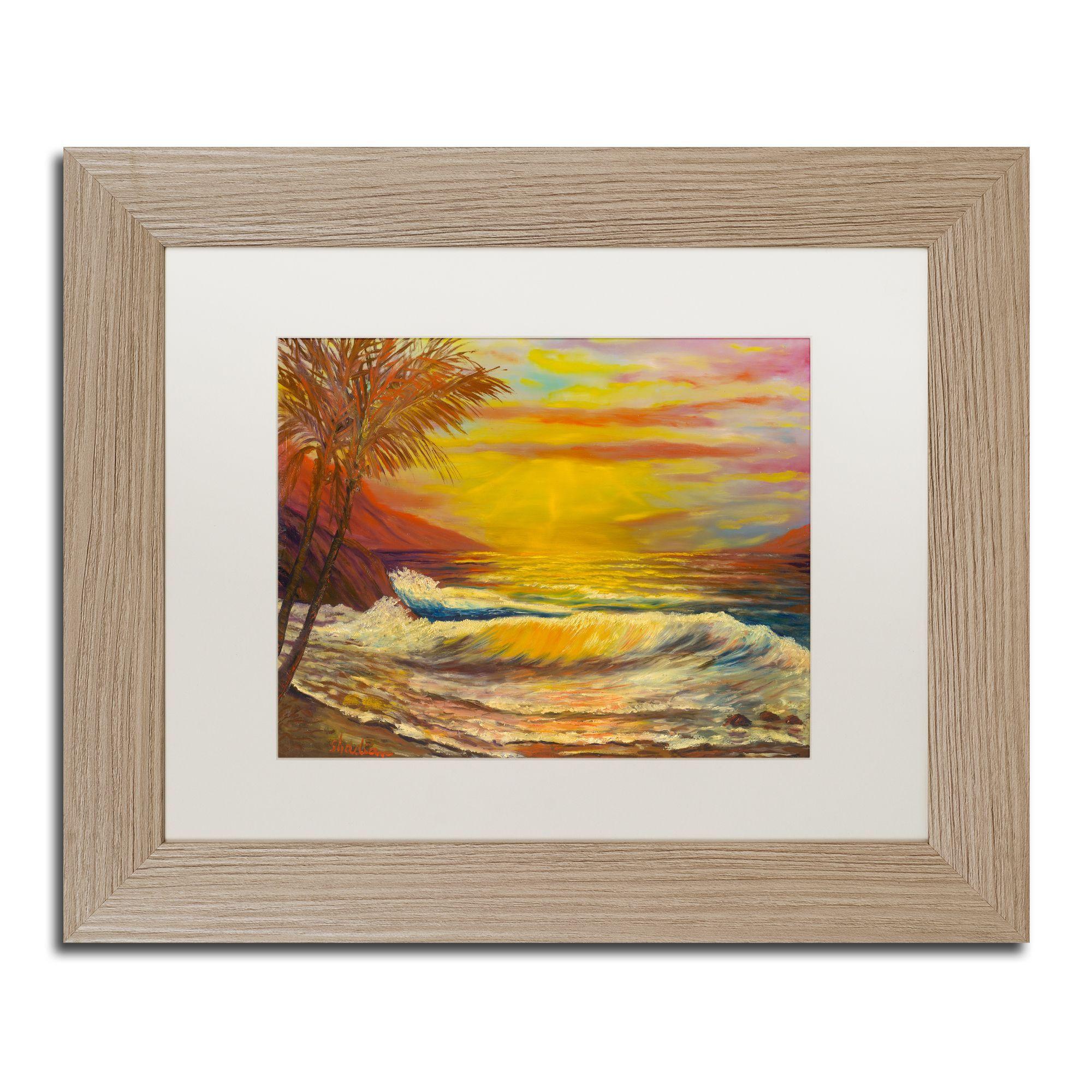 Manor shadian ua tropical lagoonu matted framed art products