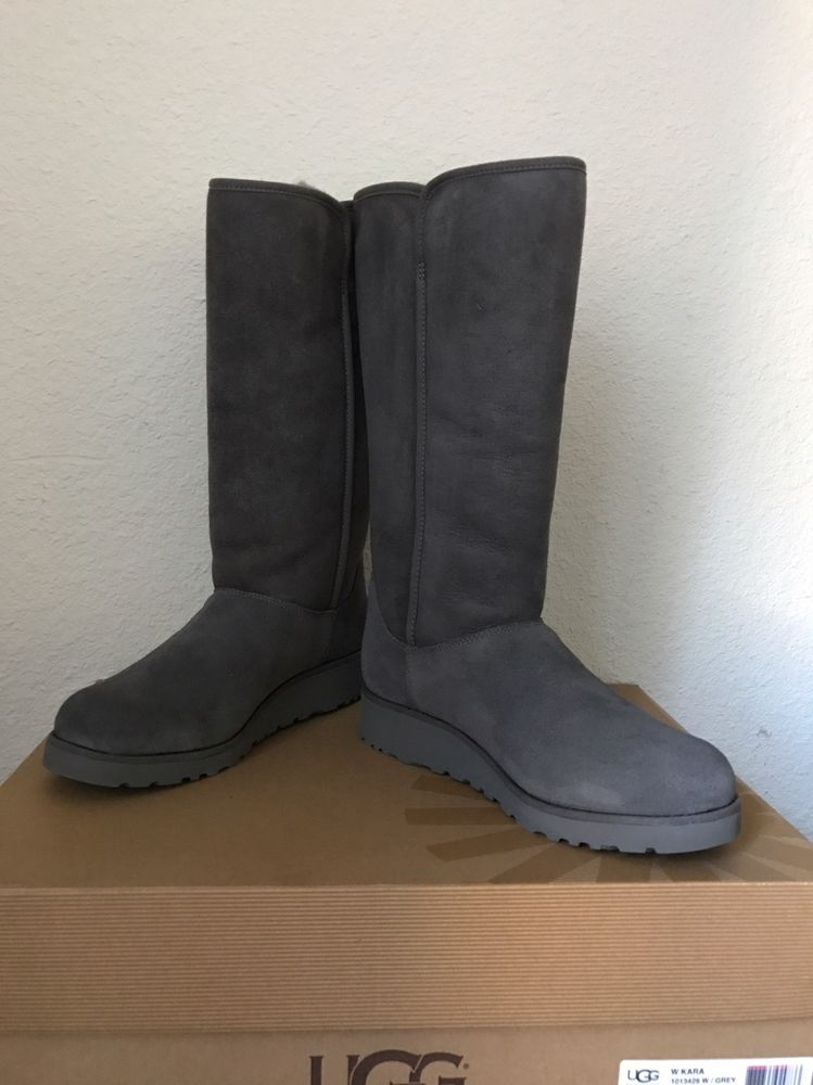 online for sale cheapest price utterly stylish Details about UGG CLASSIC TALL GREY SUEDE/SHEEPSKIN WOMEN'S ...