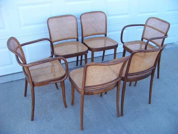 Thonet Bentwood Cane Dining Chairs