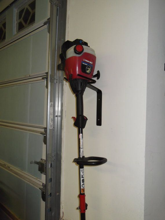 Line trimmer  Weed eater wall hanger storage by