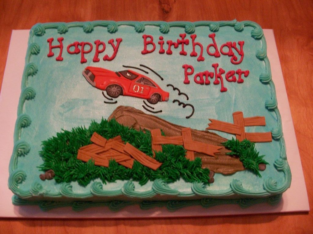 Dukes Of Hazzard Birthday Cakes For Kids Does Anyone