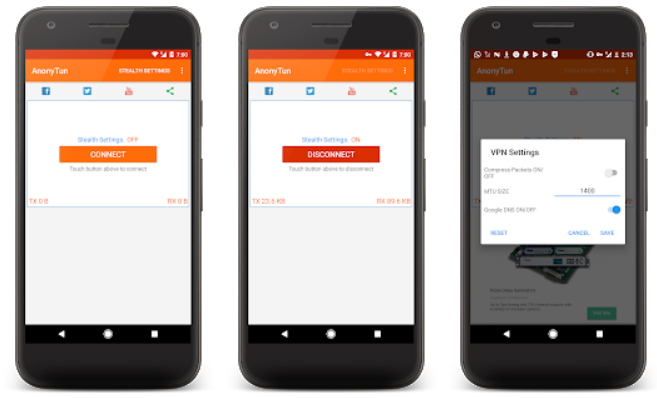 AnonyTun Pro download vpn for Android phones, all versions