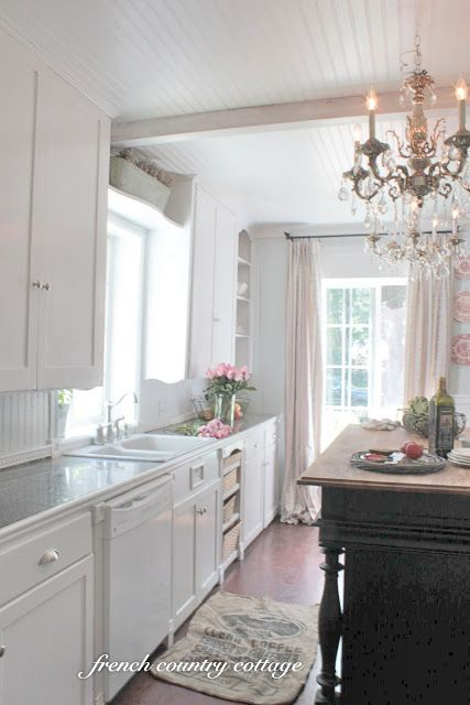 FRENCH COUNTRY COTTAGE French Cottage Kitchen My thoughts love - French Country Kitchens