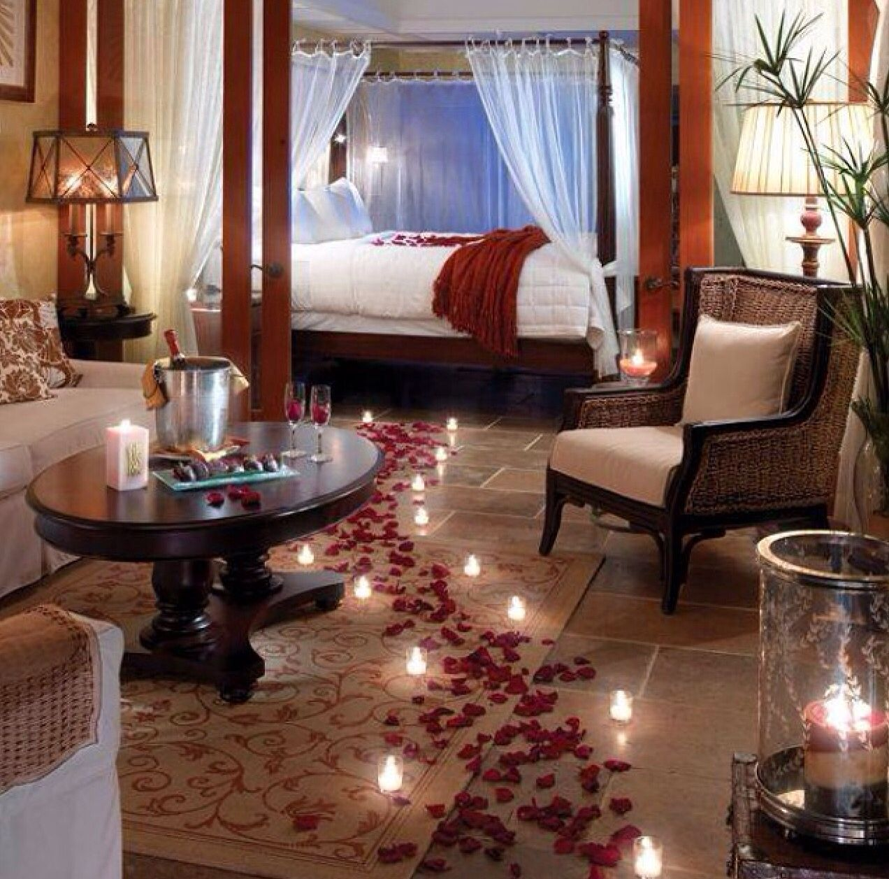 Pin by Belvi Jones on A girl can dream .....right ... Surprise Romantic Night At Home