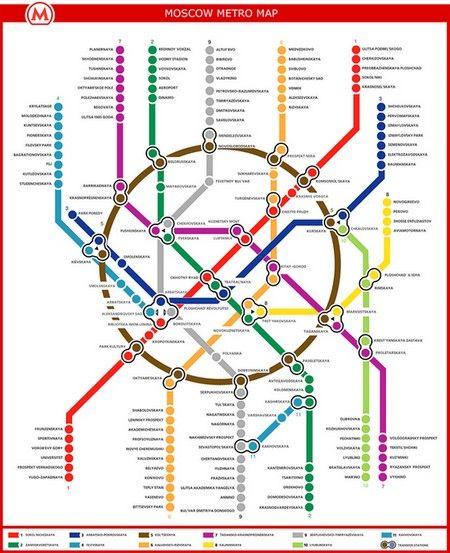 Carte : Plan du métro de Moscou (Russie) | titouan | Pinterest