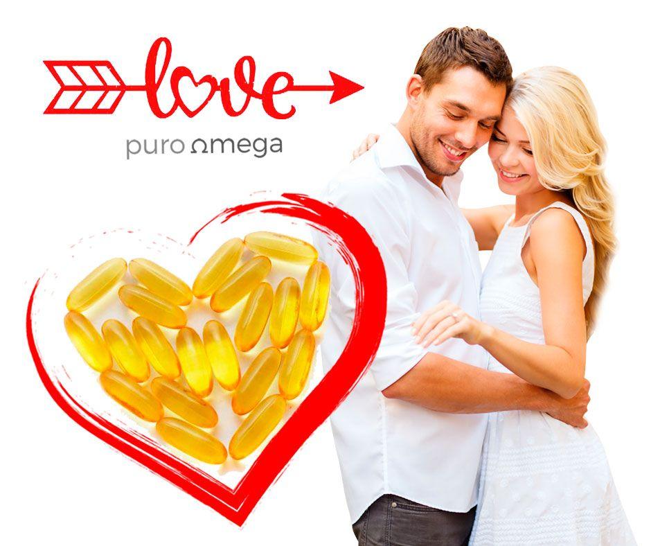 Este 14 de Febrero regala amor y salud. Suplementos Puro Omega para cuidar a los tuyos. #sanvalentin #amor #salud #bienestar #diadelosenamorados #pareja