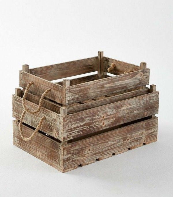 Où trouver des caisses en bois et des cagettes