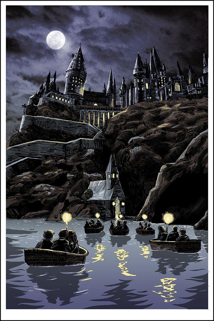 Hogwarts by Tim Doyle Art harry potter, Harry potter