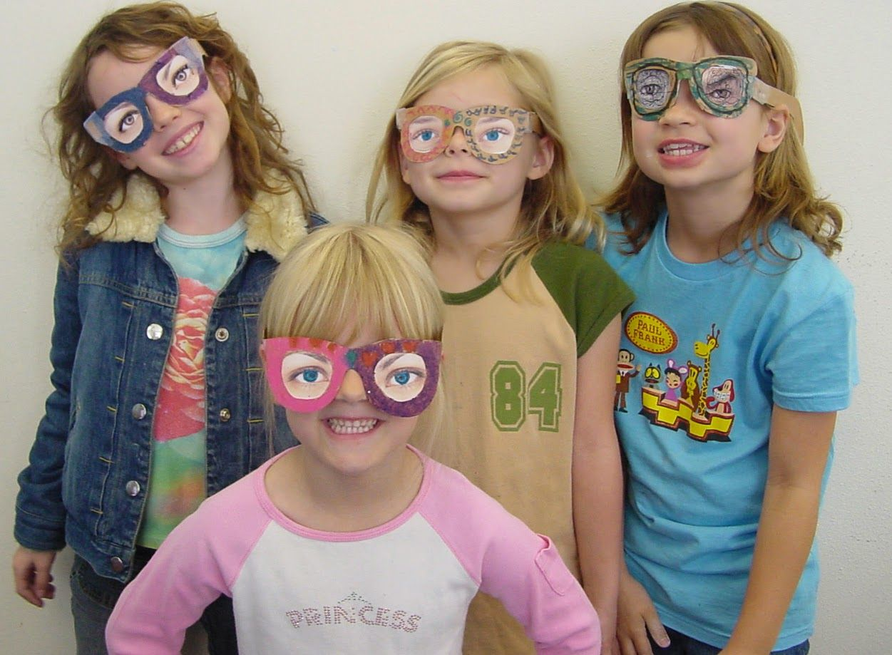 April Fool S Eyeglasses Art Projects For Kids