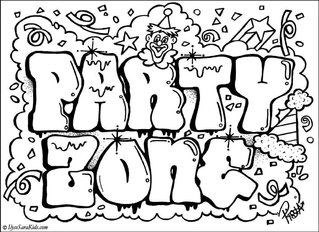 Httpmewarnai Us35695 Crazy Graffiti Creator Coloring Page