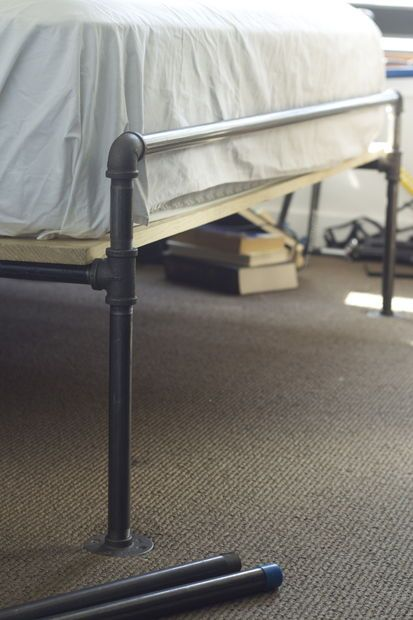 a soft industrial pipe bed frame - Diy Pipe Bed Frame