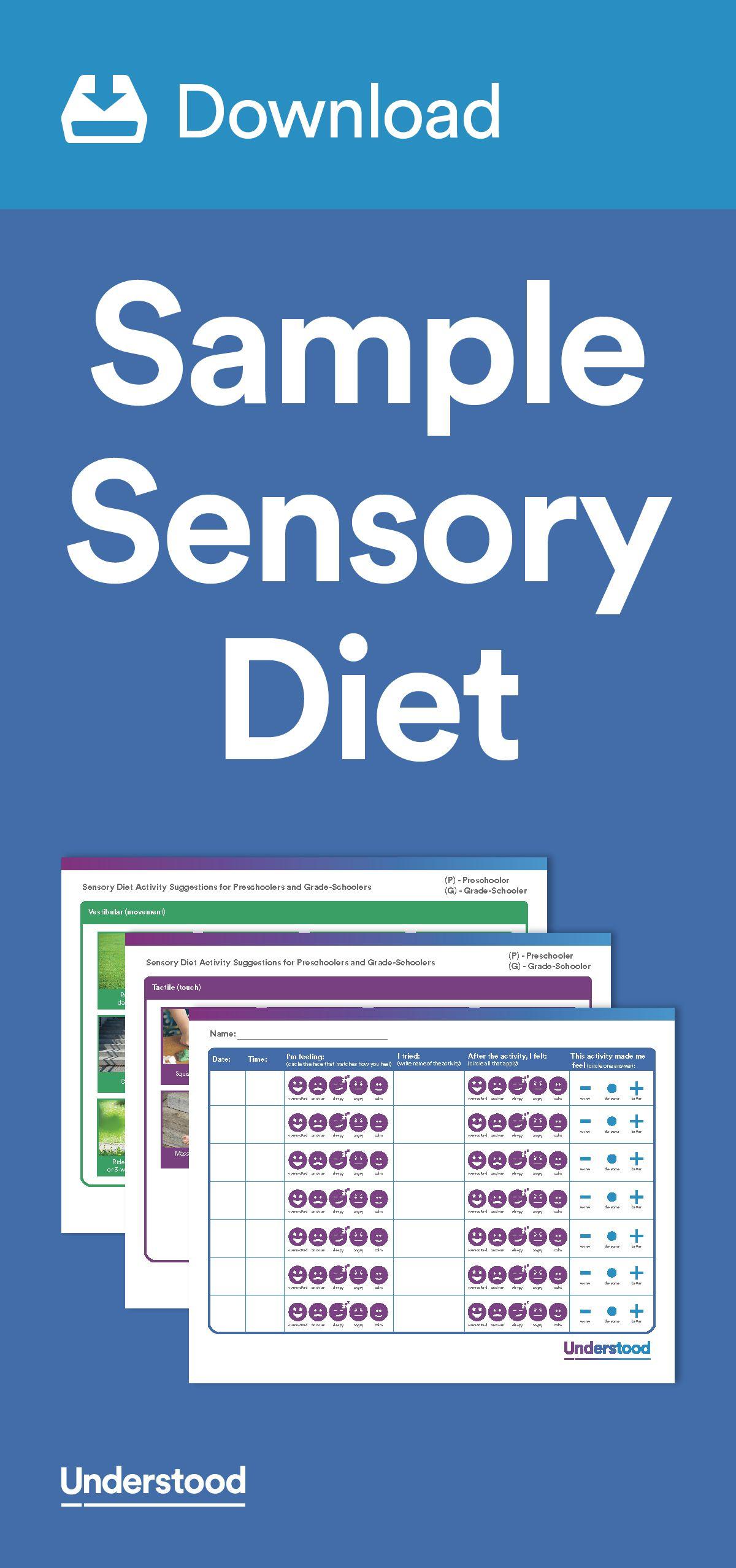 Download Sample Sensory Diet Sensory Integration Therapy