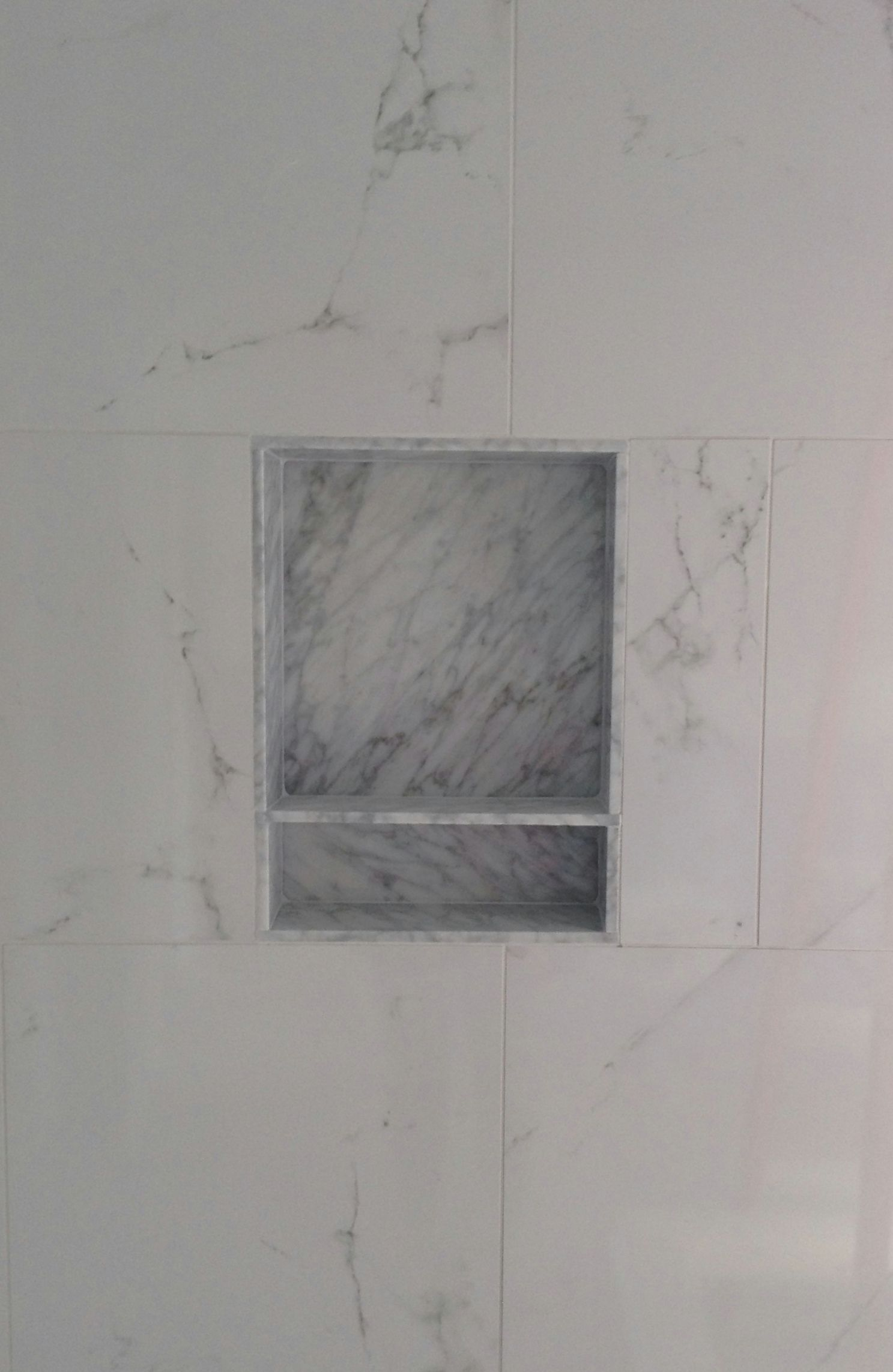 Porcelain Wall Tile Marble Niche Schluter Trim Shower
