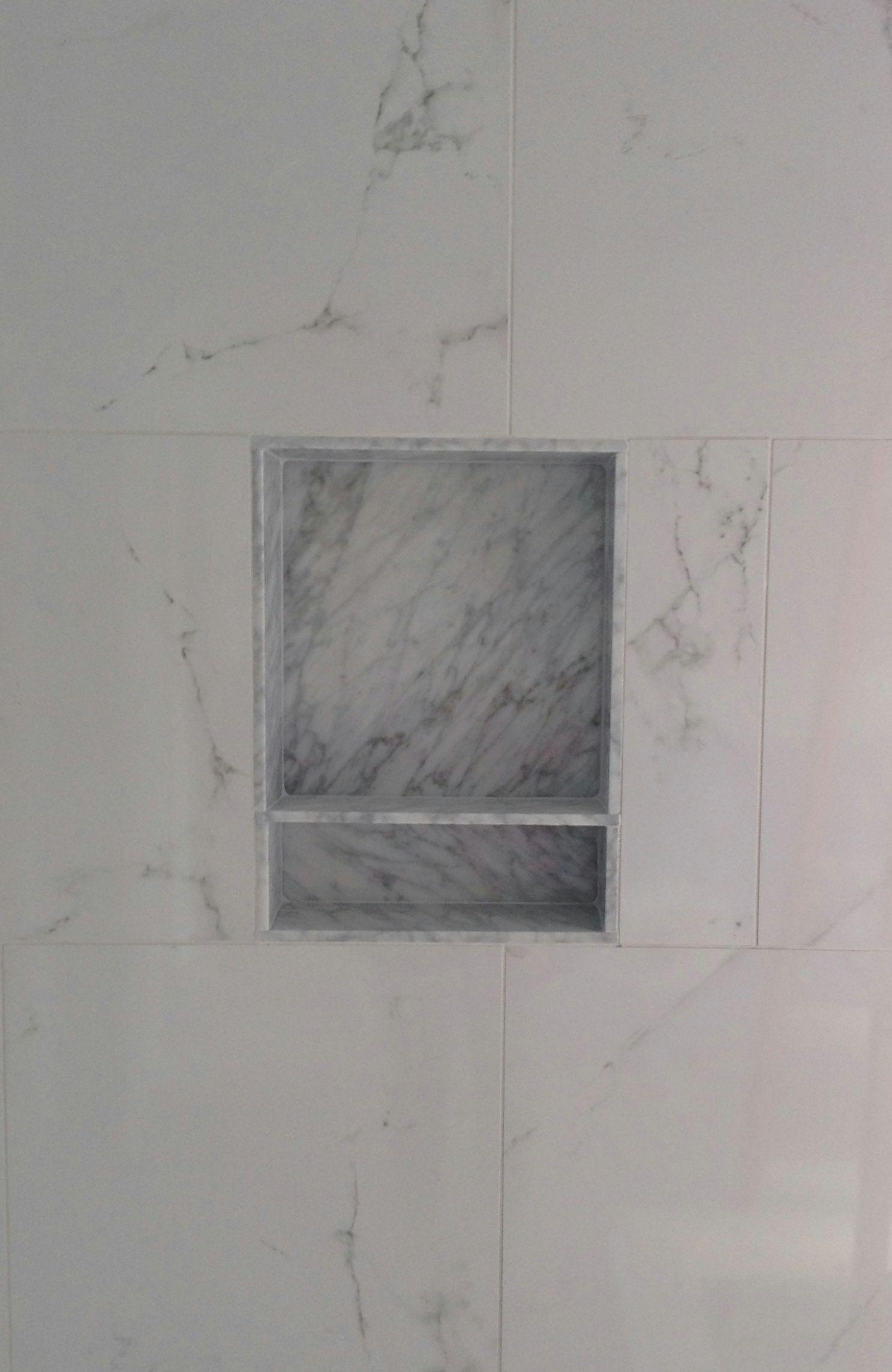 Porcelain Wall Tile Marble Niche Schluter Trim