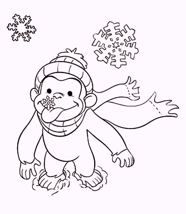 The Curious George Coloring Pages Curious George Coloring Pages Christmas Coloring Pages Monkey Coloring Pages
