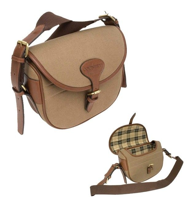 Equipement chasse: Sac Cartouches toile et cuir Country   Kettner