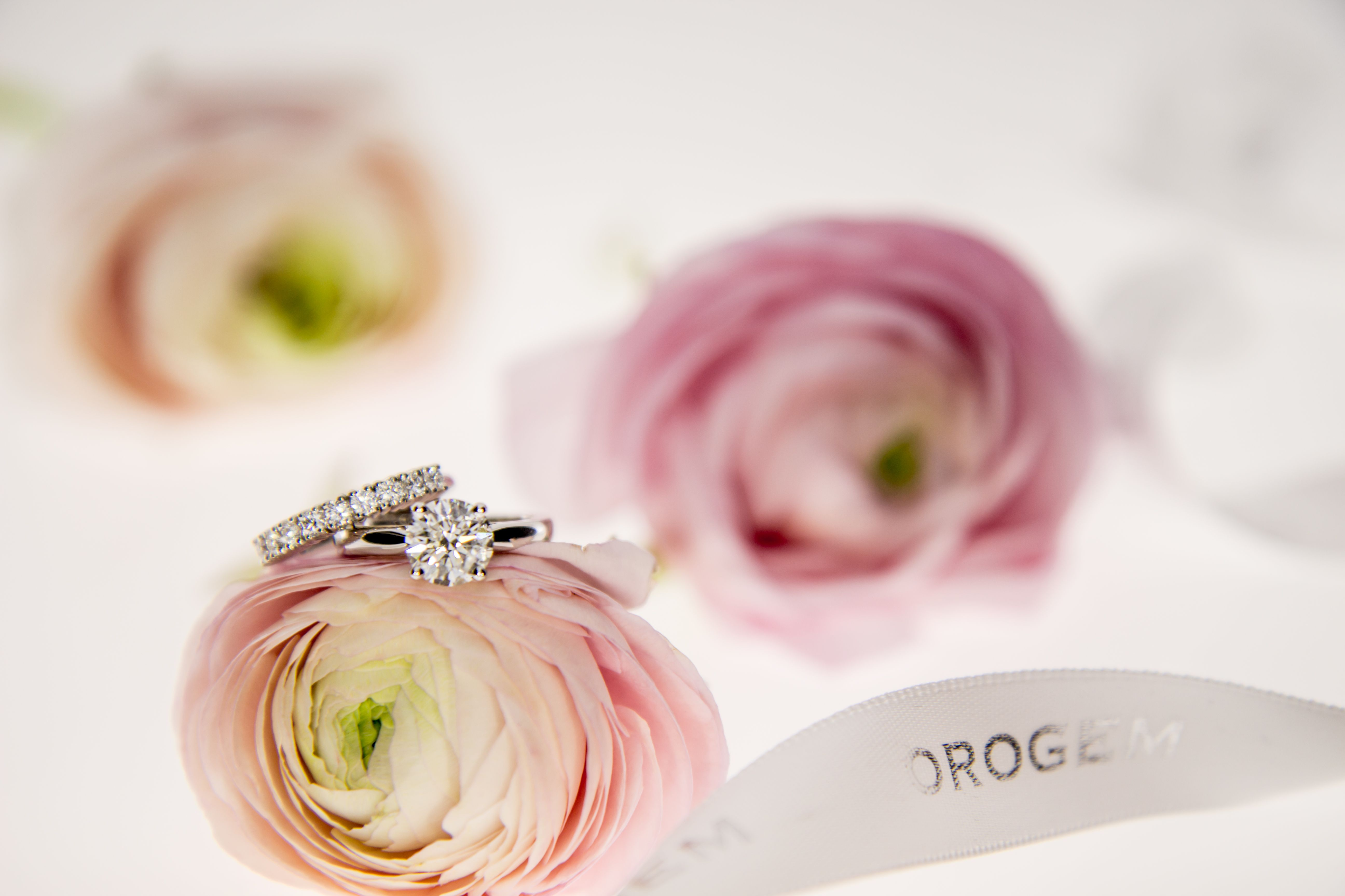 Tailor made diamond engagement and wedding ring, perfect match ...
