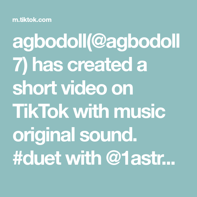 Agbodoll Agbodoll7 Has Created A Short Video On Tiktok With Music Original Sound Duet With 1astronomical1 Prank Jok The Originals Bujo Inspiration Video