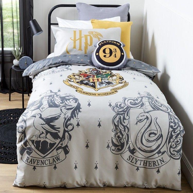 Harry Potter House Quilt Cover Set Grey Harry Potter Bedroom