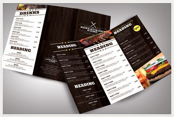 Restaurant Menu Templates Modern  Sample Design