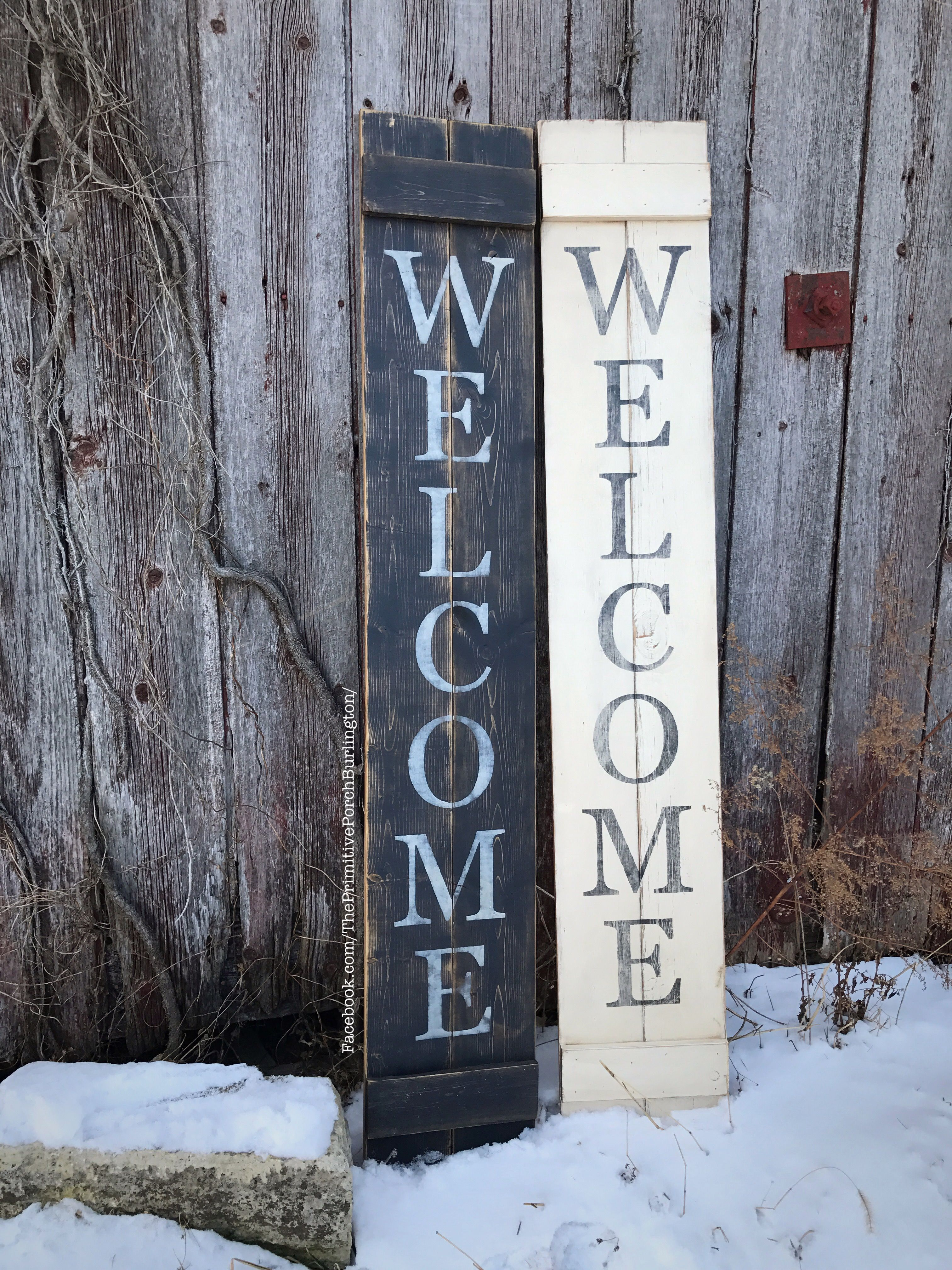 Porch signs welcome my porch barn wood quot what happens on the porch - Tall Welcome Sign Great For All Year Outside Decor Wooden Rustic Sign Porch