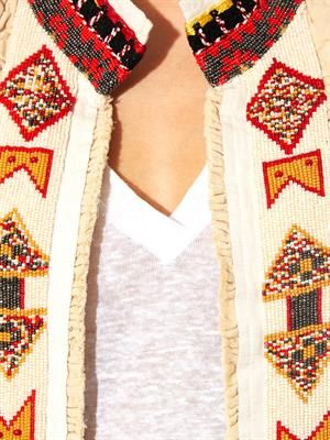 Embellished cotton and silk-blend jacket
