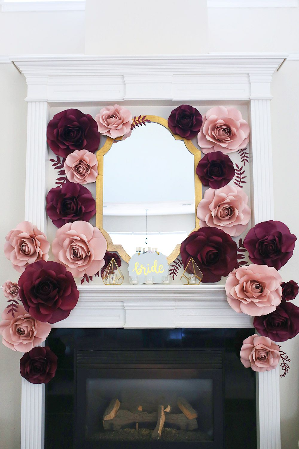12 Places To Use A Paper Flower Backdrop By Cameron Proffitt Simple Bridal Shower Decorations Bridal Shower Decorations Elegant Wedding Bridal Bouquets