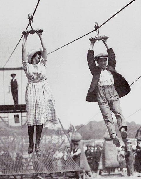 zip line 1920s style