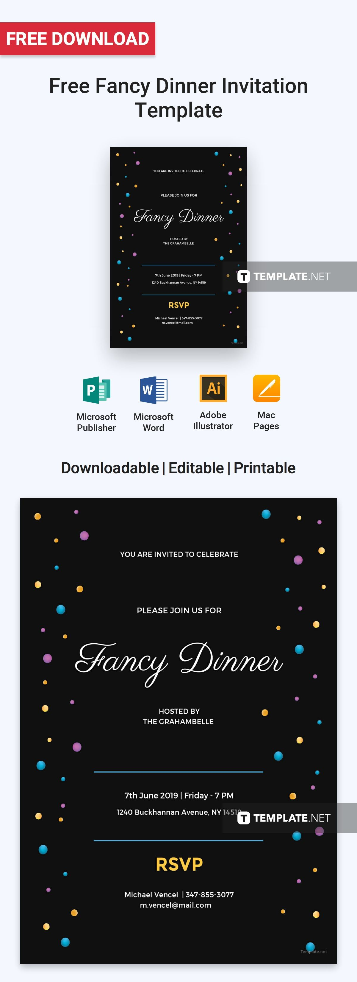 free fancy dinner invitation invitation templates designs 2019